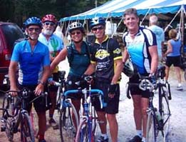 Some of the group at the Great Peanut Ride, Fall  2005