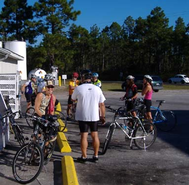 Group gets ready to finish the Orton Plantation ride